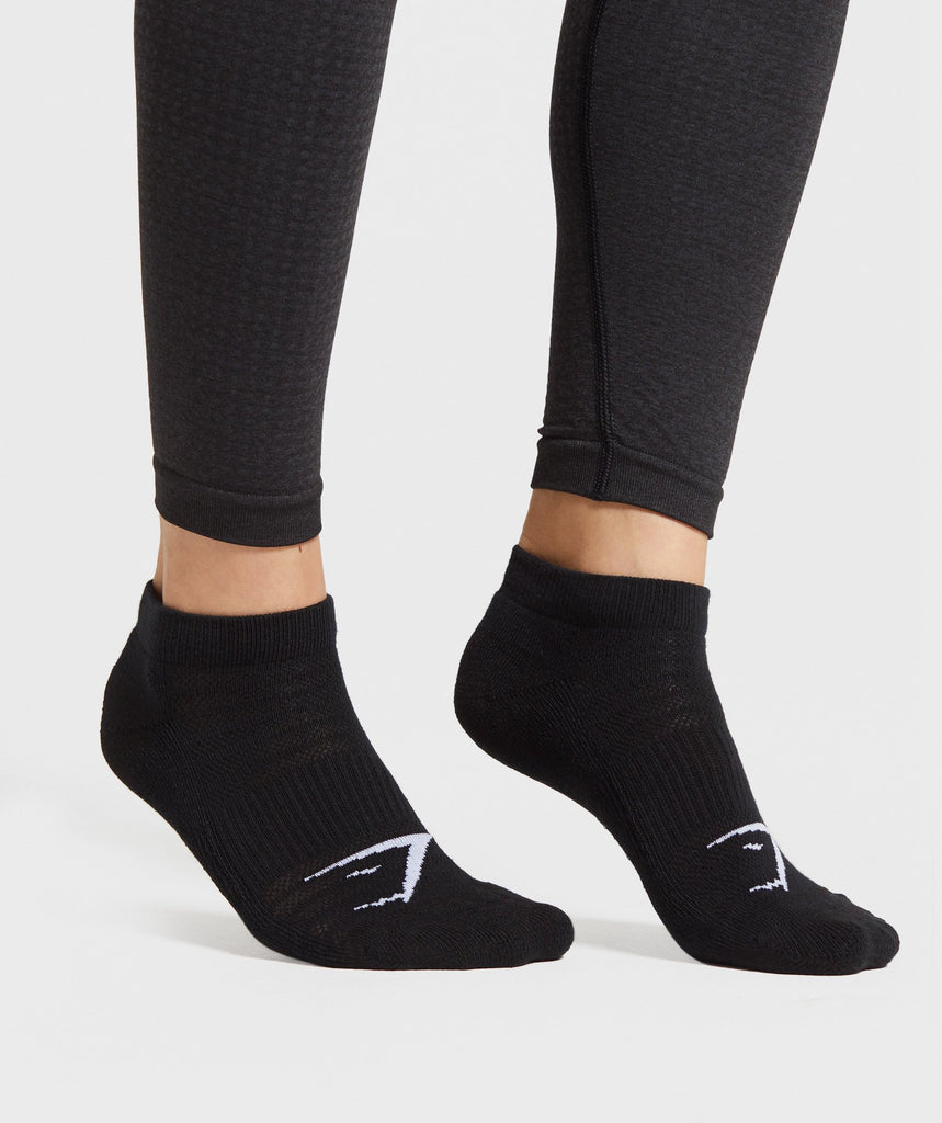 Gymshark Trainer Socks (3Pk) - Black 1