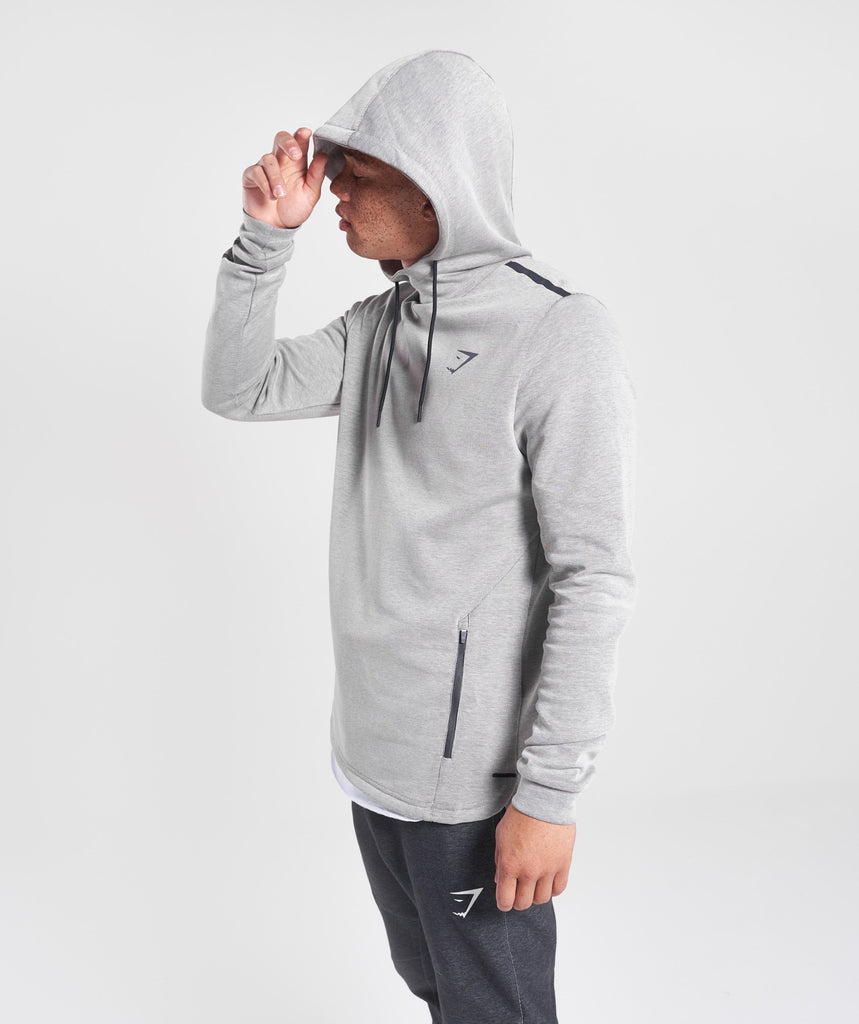 Gymshark Take Over Pullover - Light Grey Marl 1