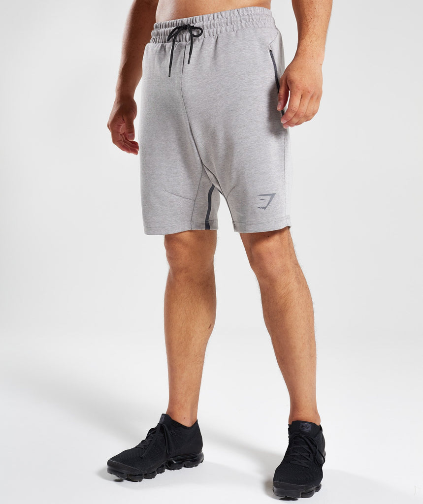 Gymshark Take Over Shorts - Light Grey Marl 1