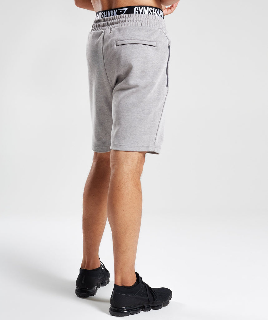 Gymshark Take Over Shorts - Light Grey Marl 2