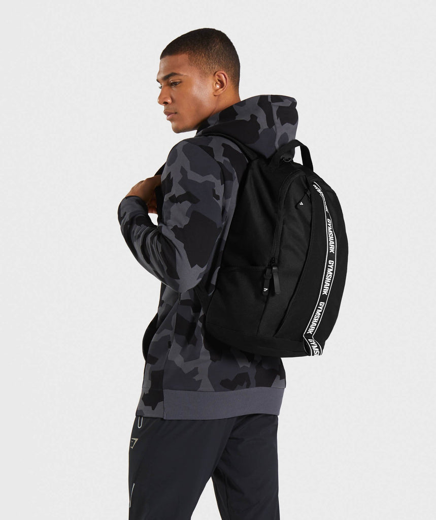 Gymshark Taped Backpack - Black 1