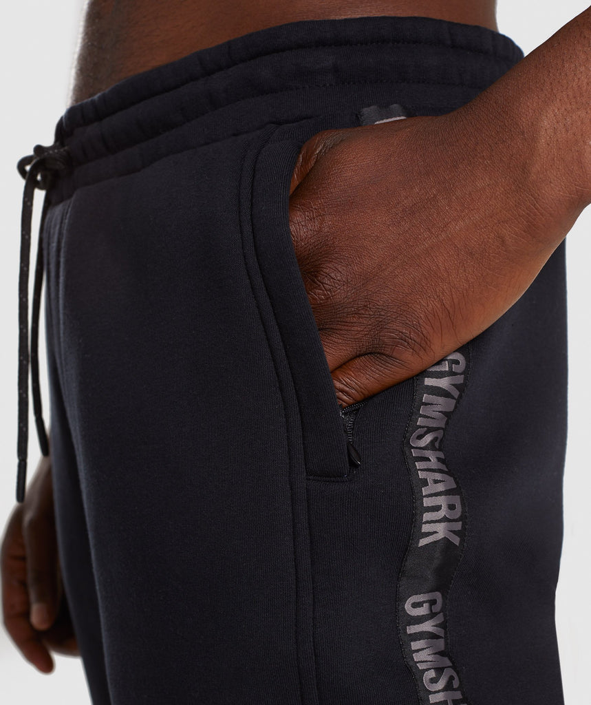 Gymshark Taped Joggers - Black 5