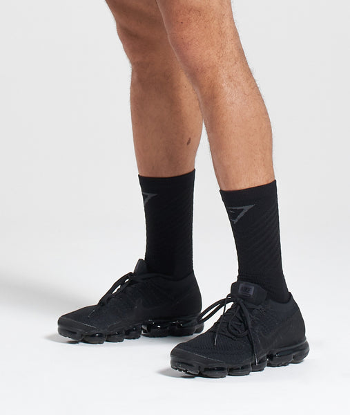 Gymshark Thick Tech Crew Socks - Black 2