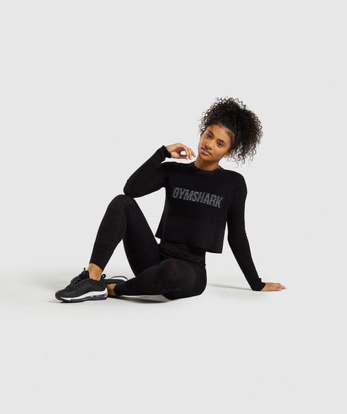 Gymshark Time Out Knit Sweater - Black Marl 2
