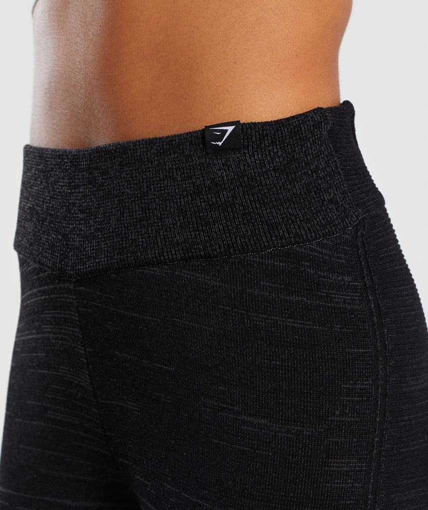 Gymshark Time Out Knit Joggers - Black Marl 5