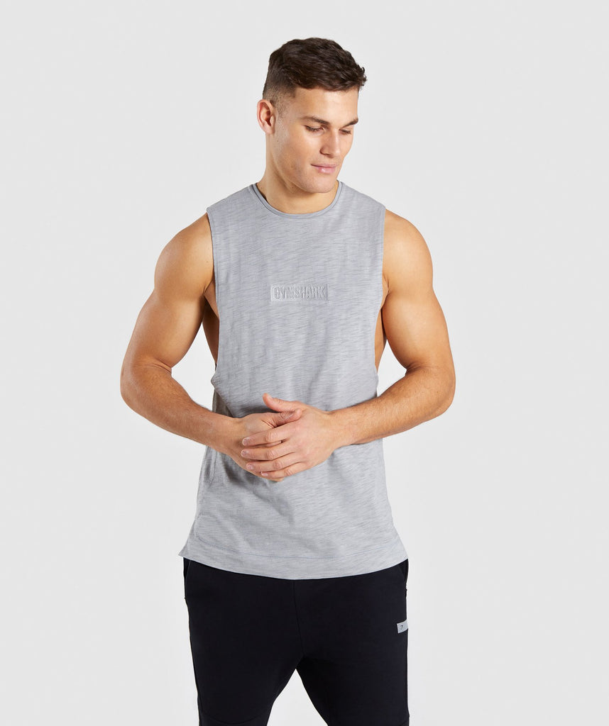 Gymshark Tonal Sleeveless T-Shirt - Light Grey 1