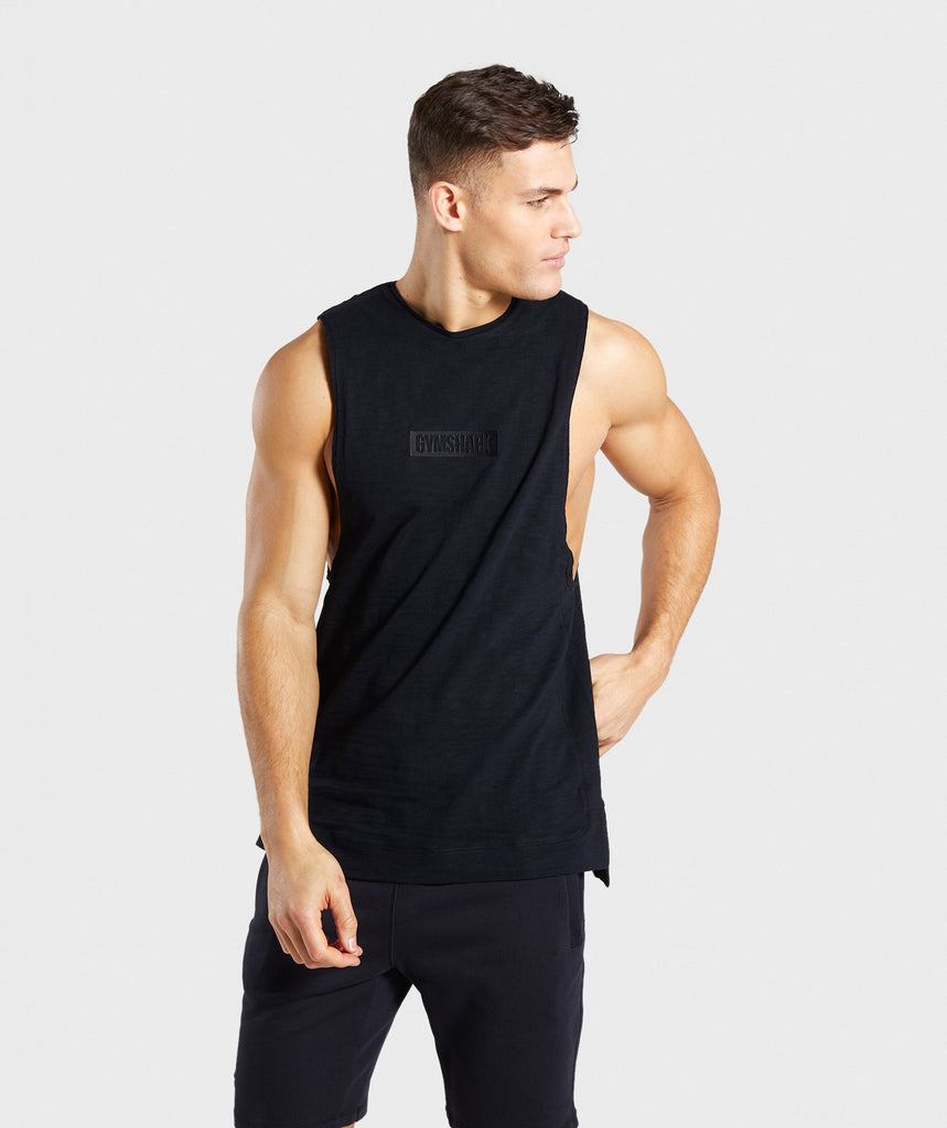 Gymshark Tonal Sleeveless T-Shirt - Black 1