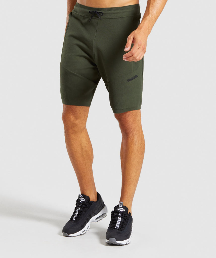 Gymshark True Knit Shorts - Green 1