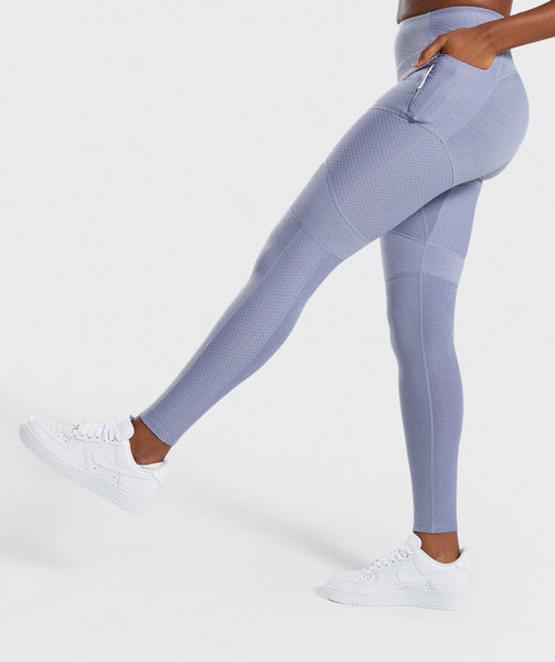 Gymshark True Texture Leggings - Steel Blue 2