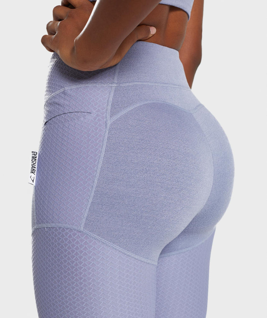 Gymshark True Texture Leggings - Steel Blue 6