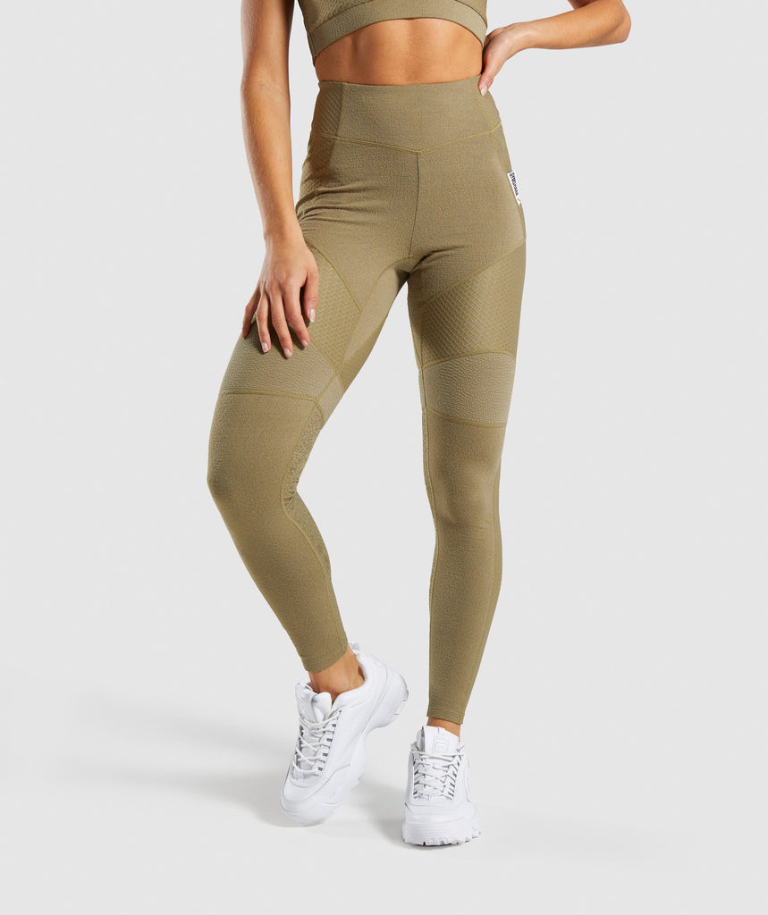 Gymshark True Texture Leggings - Washed Khaki 1