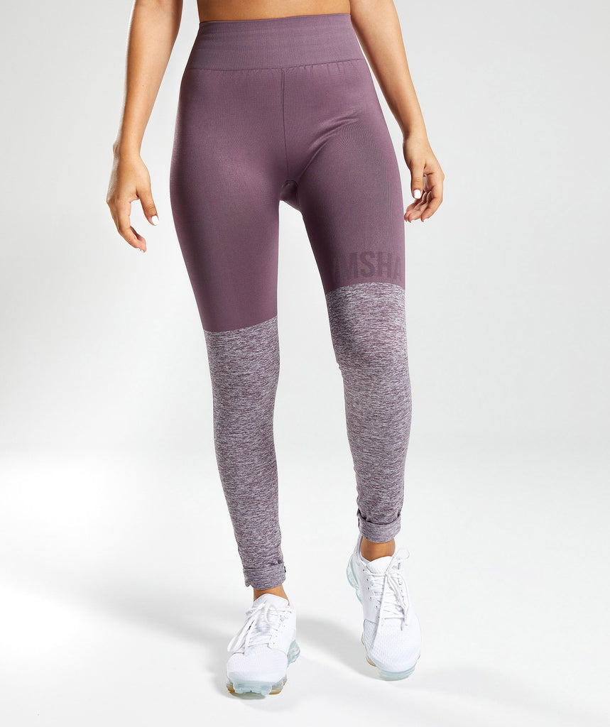 Gymshark TwoTone Seamless Leggings - Purple Wash 2