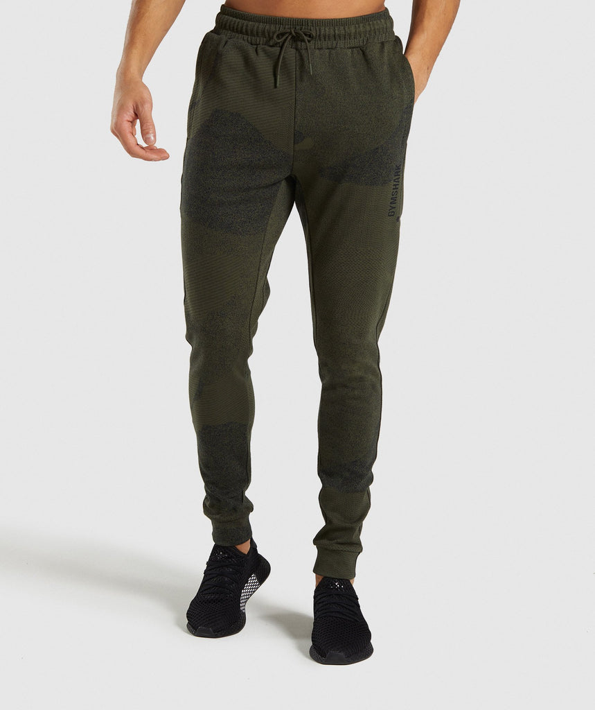 Gymshark Ultra Jacquard Joggers - Woodland Green 1