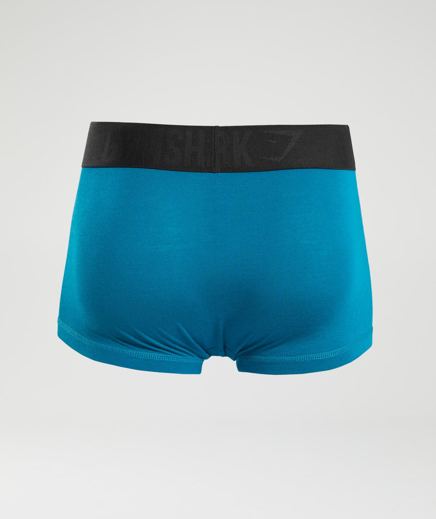 Gymshark Mens Hipsters 2pk - Deep Teal/Black 2