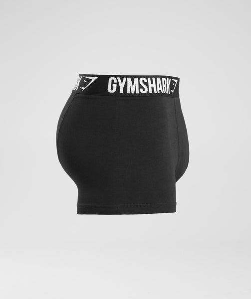 Gymshark Mens Trunks 2pk - Black/White 2