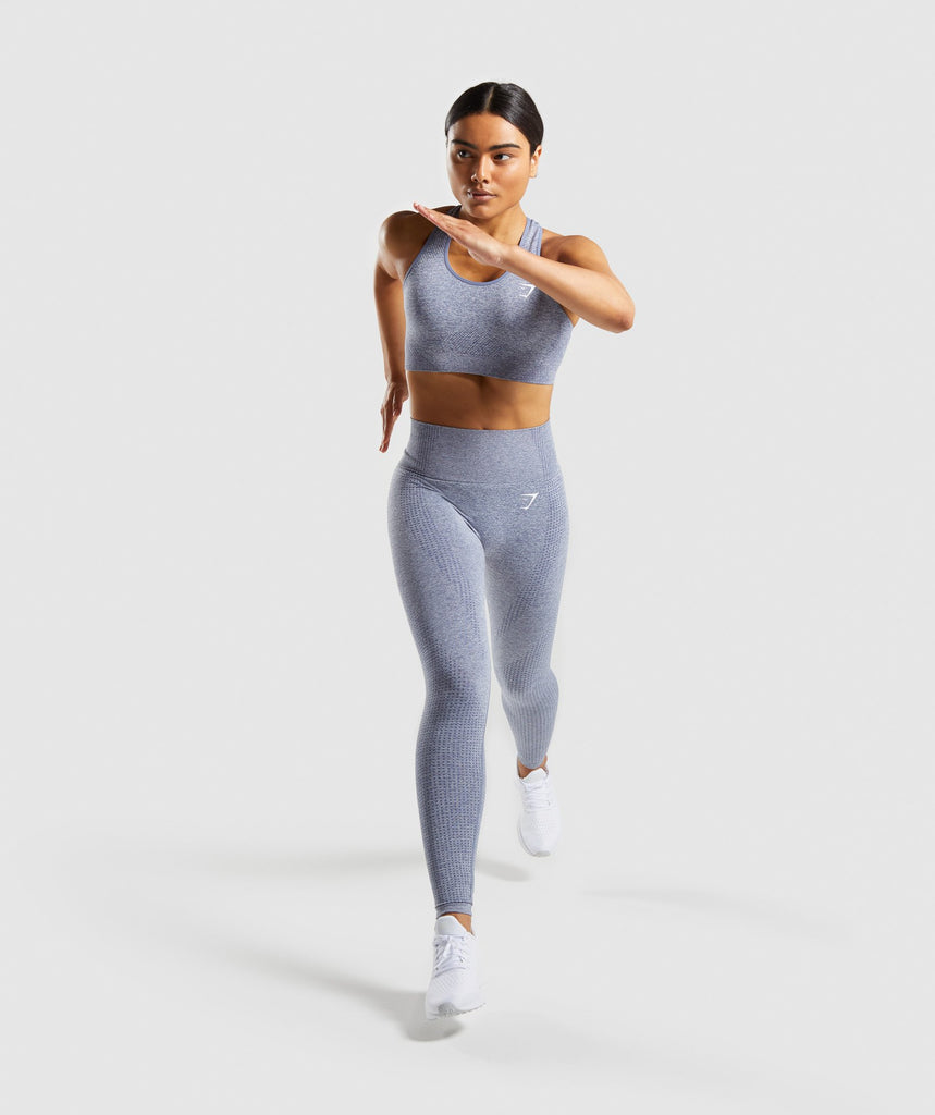 Gymshark Vital Seamless Sports Bra - Steel Blue Marl 5