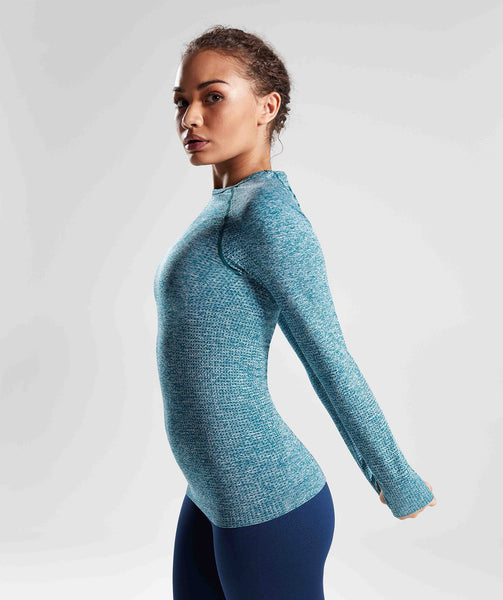 Gymshark Vital Seamless Long Sleeve Top - Deep Teal 2