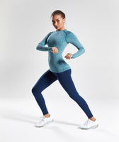 Gymshark Vital Seamless Long Sleeve Top - Deep Teal 10
