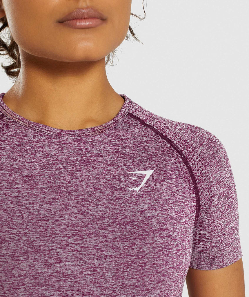 Gymshark Vital Seamless T-Shirt - Purple 5
