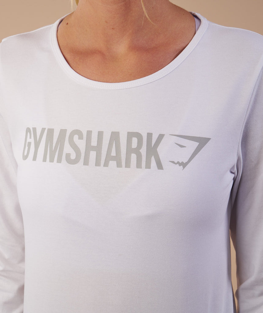 Gymshark Apollo Long Sleeve T-Shirt - White 6