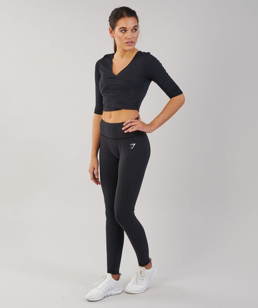 Gymshark Ballet Crop Top - Black 4