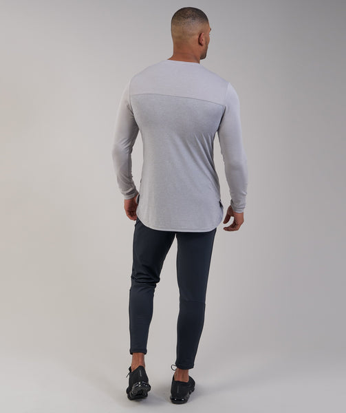 Gymshark Breathe Long Sleeve T-Shirt - Light Grey Marl 3