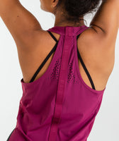 Gymshark T-Bar Cropped Vest 2.0 - Deep Plum 11