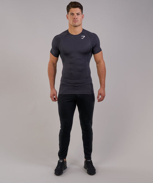 Gymshark Element Baselayer Short Sleeve Top - Black Marl 4