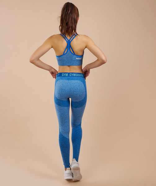 Gymshark Flex Leggings - Blueberry Marl/Marine Blue 4