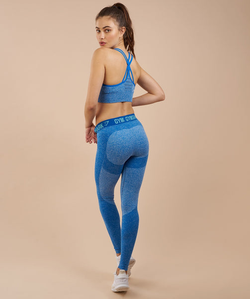 Gymshark Flex Leggings - Blueberry Marl/Marine Blue 2