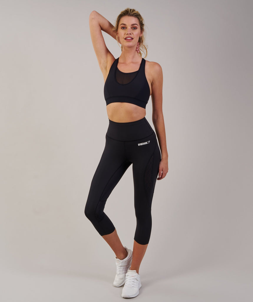 Gymshark Fusion Cropped Leggings 2.0 - Black 1