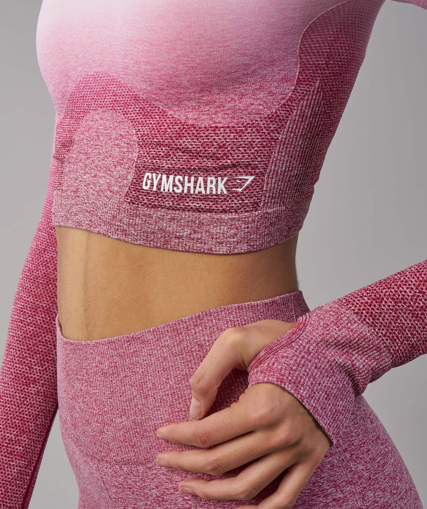 Gymshark Ombre Seamless Crop Top - Chalk Pink/Beet 5