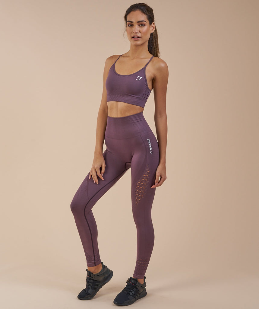 Gymshark Energy Seamless Sports Bra - Purple Wash 1