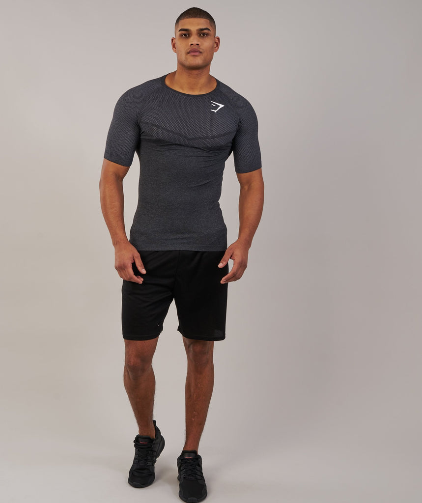 Gymshark Performance Seamless T-Shirt - Black Marl 1