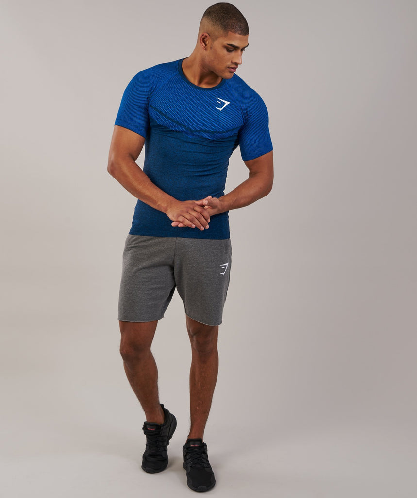 Gymshark Performance Seamless T-Shirt - Dive Blue Marl 1