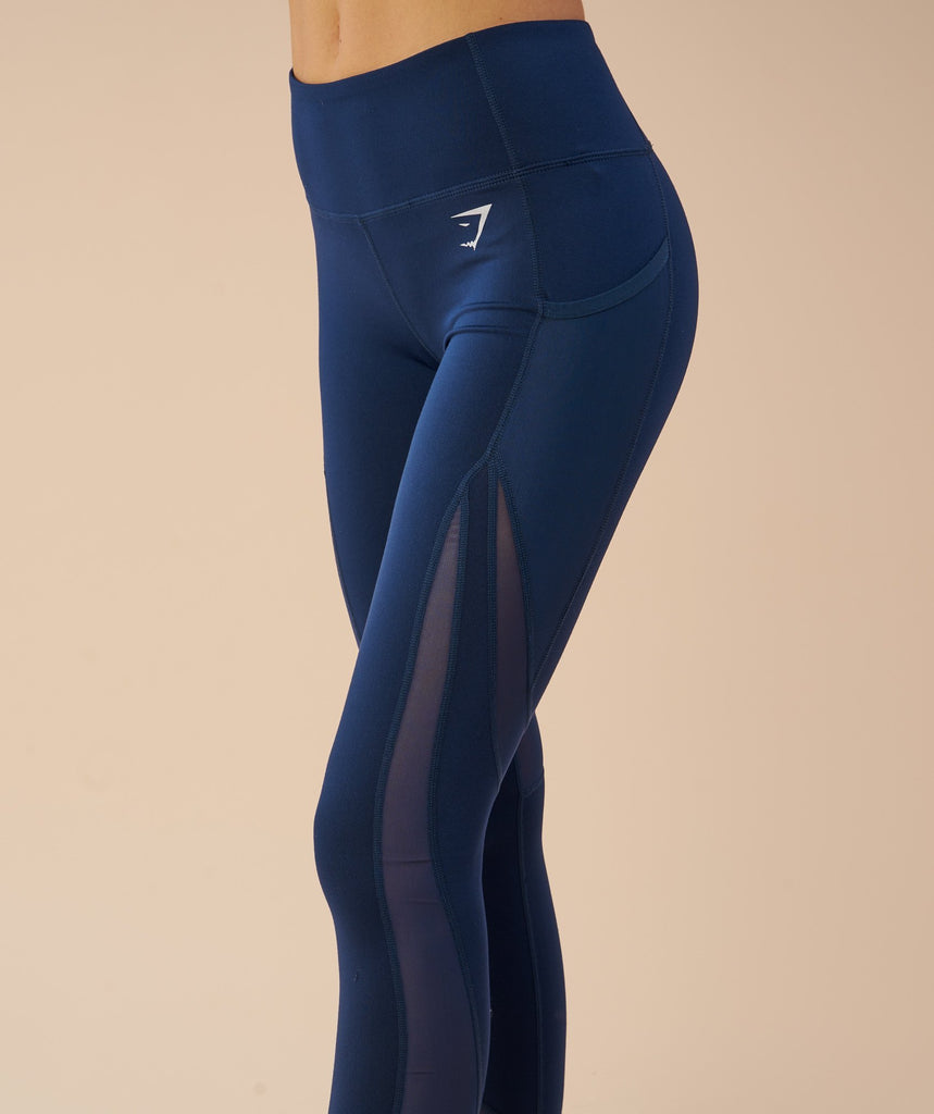 Gymshark Sleek Sculpture Leggings - Sapphire Blue 6