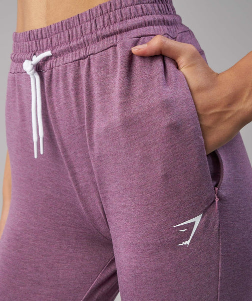 Gymshark Solace Bottoms - Purple Wash Marl 4