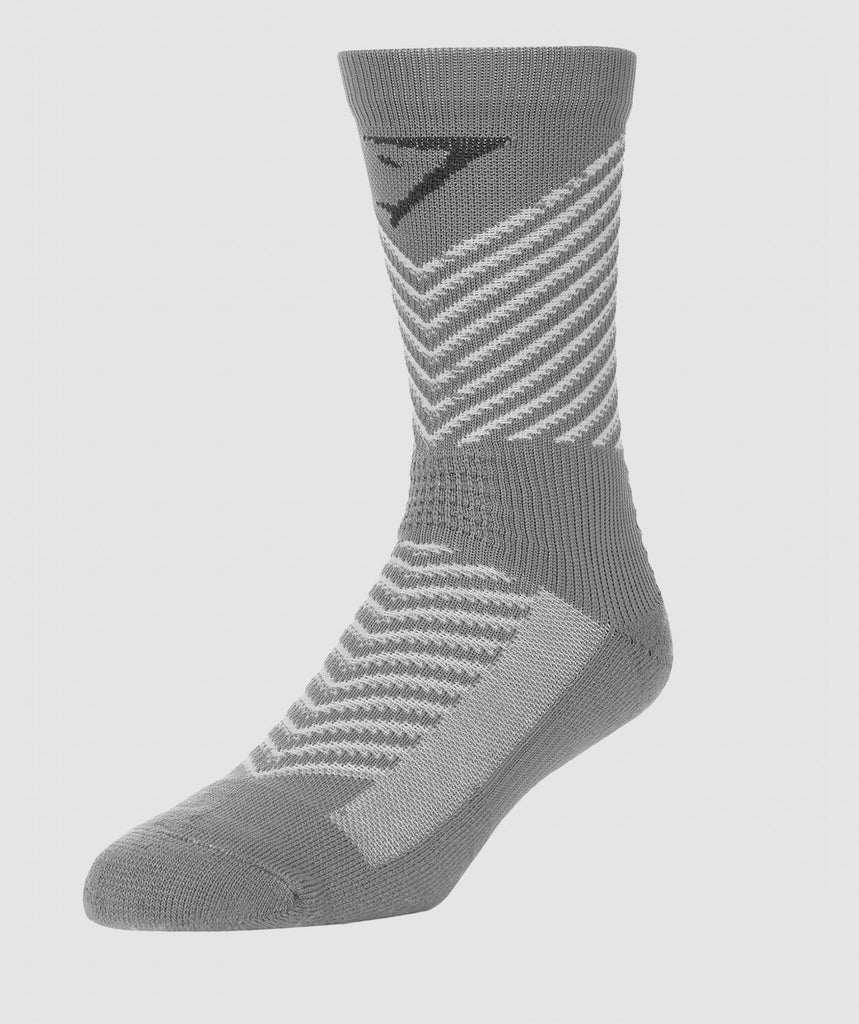Gymshark Thick Tech Crew Socks - Light Grey 4
