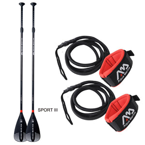 Fiberglass Extendable Paddle with Leash