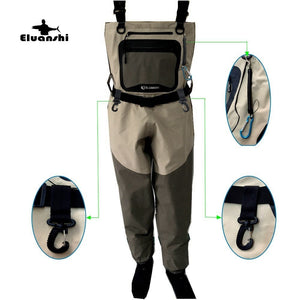 Eluanshi Triple Layer Waders for fishing and hunting