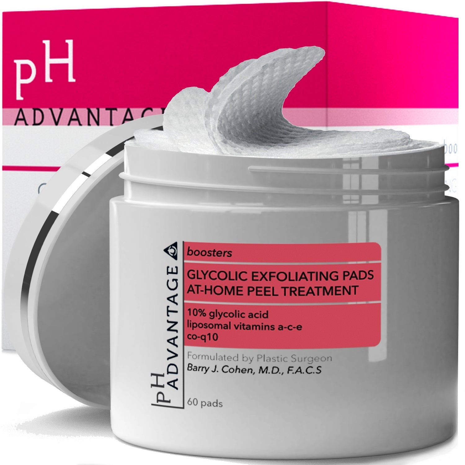 Glycolic Acid Pads - Anti Aging AHA Exfoliating Pads 60 ct