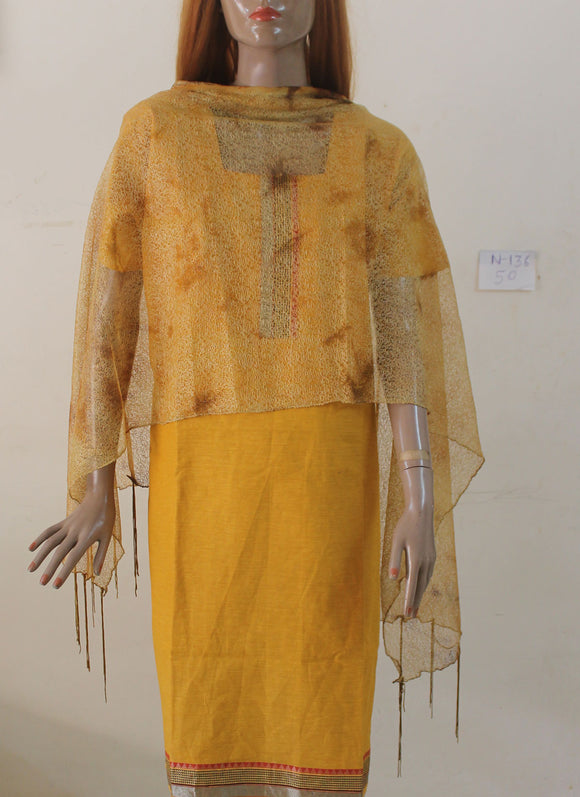Yellow N136 Cotton Cool Cool Collection Summer Wear Long Plus size 50