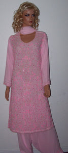 Pink Designer Collection Chest Size 42 Salwar Kameez D310 Wedding Wear