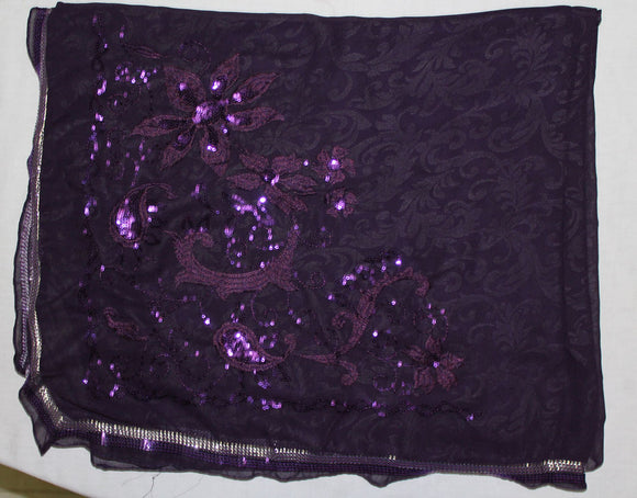 Purple Beaded Bridal Hijab