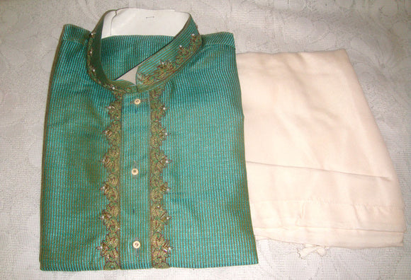 Green    sherwani Boys Kurta Salwar sherrwani Indian Wedding