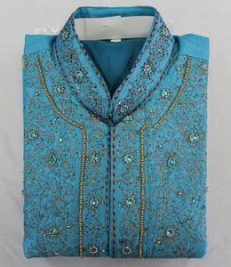 Blue Long Ladies Kurta Dress Plus Chest Size 42 B109