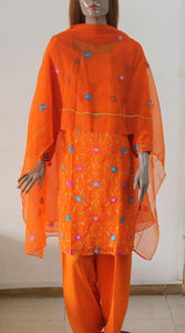 Orange Crepe Salwar Kameez SALE
