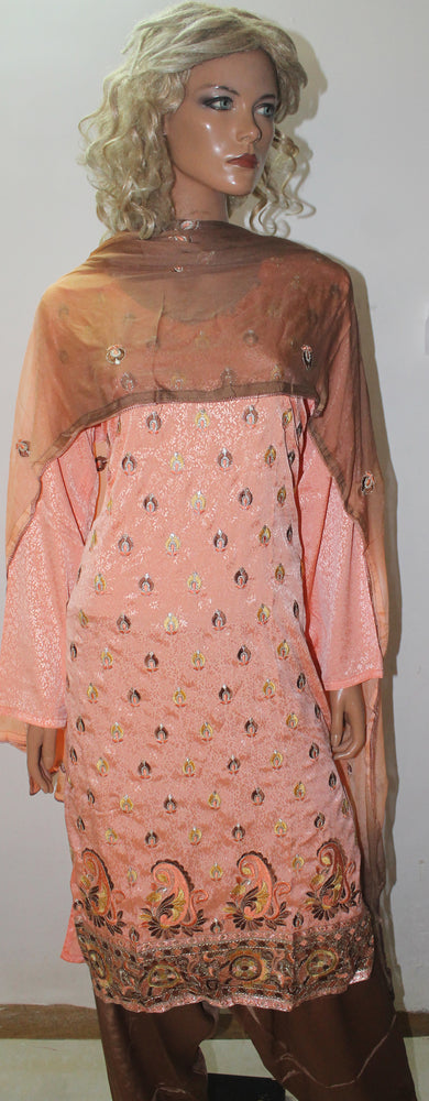 Load image into Gallery viewer, Melon  Indian Wedding party wear Formal Salwar kameez Dress Plus Size 50