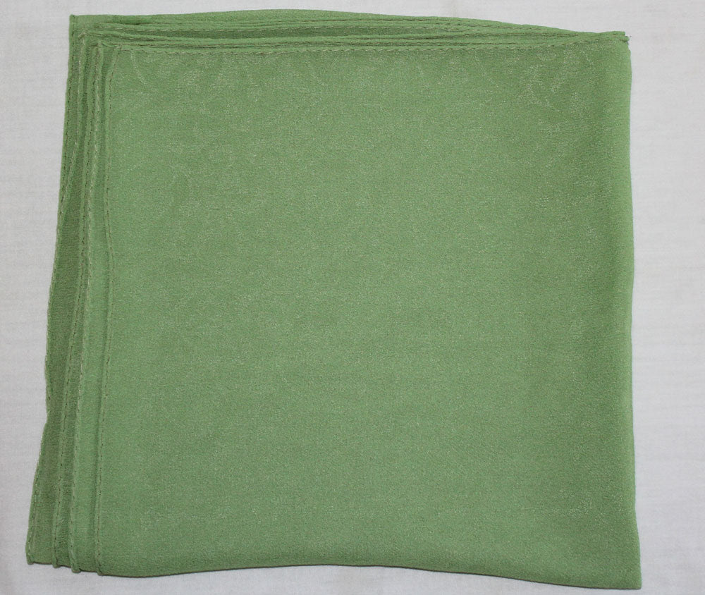 Green Solid Color Hijab Scarves Daily Wear