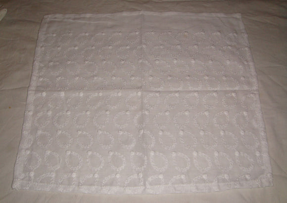 Ethnic Traditional White 100% Cotton Chicken Handkerchiefs Small Size